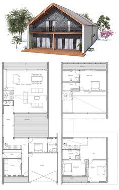 Narrow Lot Home Fabulous Floor Plans Pinterest