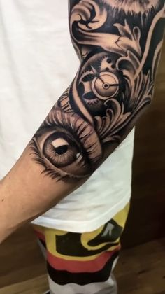 Half Sleeve Tattoos For Guys, Hand Tattoos For Guys, Cool Tattoos For Guys, Best Sleeve Tattoos, Tiger Tattoo Sleeve, Lion Tattoo Sleeves, Cool Forearm Tattoos, Arm Tattoos For Men, Mangas Tattoo