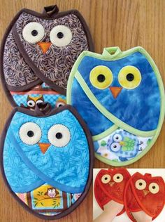 Owl Pot Holders Tutorial Free Pattern Video