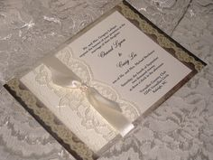 French-     Lace Wedding Invitations 3, French Market Elegant, Shabby Chic, Vintage Inspired, Haute Couture Invitations