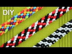 ▶ Rag Rug Friendship Bracelet / DIY Tutorial - YouTube