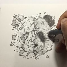 Geometric animals - panda.YaStamp✌️