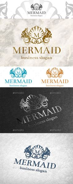 Mermaid logo (Vector EPS, AI Illustrator, CorelDRAW CDR, Resizable, CS, beauty, classic logo, elegant, emblem, fashion, flourish, gold, hotel, jewelry, luxury, majestic, mermaid, modern, ornament, queen, royal, royalty, salon spa, swimming pool, swirl)