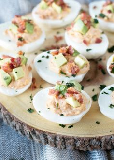 Chipotle Bacon Deviled Eggs make the best start to a party. You'll love those sweet and smoky flavors.