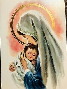 Mother Mary Images, Images Of Mary, Blessed Mother Mary, Divine Mother, Mary Jesus Mother, Jesus Drawings, Jesus Mary And Joseph, Vintage Holy Cards, Mother Art