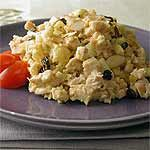 Of course I'd cut the curry or replace with another spice, but this sounds good with the apple, grapes, pineapple and currants. Curried Chicken Salad Recipe | MyRecipes.com