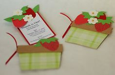 Love these strawberry inviteS