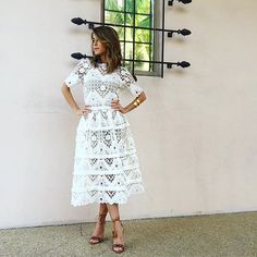 Because we are looking forward to a white out fall season. Crushing on this midi @shop_alexis lace dress. #OnTheCUSP #whiteout #regram @thestylebungalow   @liketoknow.it #liketkit www.liketk.it/01sO