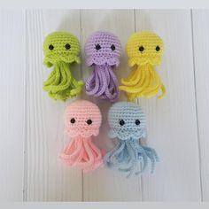 Crochet Jellyfish Octopus Sea Animal Amigurumi Ocean Marine Kawaii Crochet Plush Sea Creature Stuffed Jellyfish Plush Toy First Gift Baby