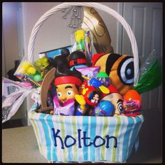 Cute easter basket for baby boy fill eggs with animal crackers cute easter basket for baby boy fill eggs with animal crackers packs of raisins goldfish etc all things ive done pinterest animal cracker easter negle Image collections