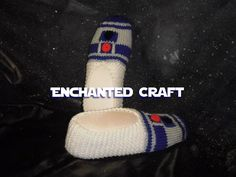 R2-D2 Slippers- hand knitted and inspired by Star Wars. $34.00, via Etsy.
