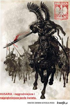 Polish King Jan III Sobieski and his Winged Hussars defeat the Ottoman Empire with the largest cavalry charge in history Military Art, Military History, Polish Tattoos, Poland History, Landsknecht, Knights Templar, Twilight Princess, Dark Ages, Fantasy Art