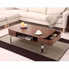 Contemporary, functional design makes this modern coffee table the perfect solution!