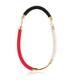 Classic rope necklace // Marni Cording Necklace in Red
