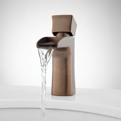 Corbin+Single-Hole+Waterfall+Bathroom+Faucet