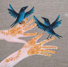 Mehndi birds by Lisa Stubbs