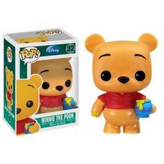 Figurine Pop de Winnie, tirée de l'animé Disney Winnie l'Ourson Winnie est en vinyl et mesure 10 cm, vendu en boite vitrine