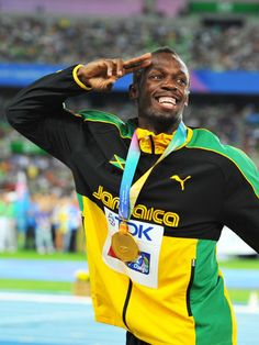 Jamaican gold medalist Usain Bolt