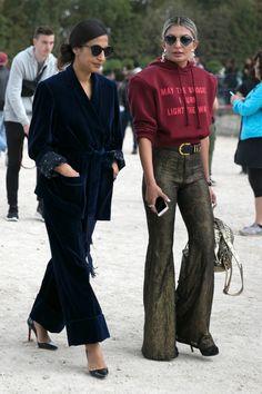 On the street at Paris Fashion Week. Photo: Emily Malan/Fashionista.