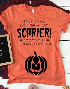 7bdb4223b6c0 Halloween Pregnancy Announcement Shirt for mom