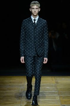 "Dior Homme Fall-Winter 2014 Men's Collection (or ""please attend to my funeral in a polka dot suit)"