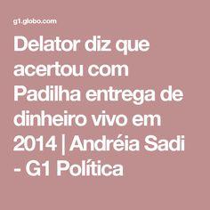 Delator diz que acertou com Padilha entrega de dinheiro vivo em 2014   Andréia Sadi - G1 Política