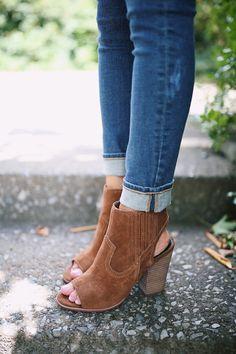 open toed booties from @nordstromrack