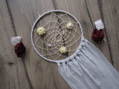 » DREAM BIG « boho handmade dream catcher | wall hanging | nursery decor | crystal dreamcatcher | home decor | dried flowers | raw crystal | quartz |