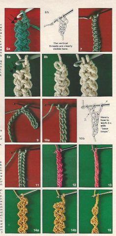 Darlombfiberart - Anna Burda 3:1981 page 3 - Crochet braid/cord patterns.