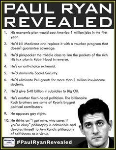 10 Things The Romney Campaign Doesn't Want You To Know About Paul Ryan