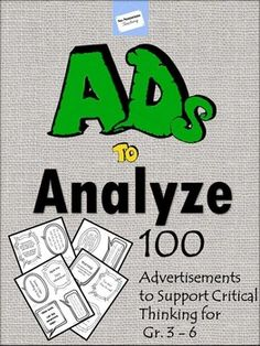 nice Persuasive Ads to Analyze: Critical Thinking, Advertising Techniques, Library. Media Literacy, Literacy Centers, Persuasive Text, Advertising Techniques, Reading Response, Teaching Reading, Learning, Classroom Activities, Classroom Organization
