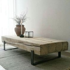 Coffee table 'Solid' is an industrial coffee table with a combination of old, .,Coffee table 'Solid' is an industrial coffee table with a combination of old, naturally weathered wood and a steel frame. These tables are handmade. Wood Furniture, Furniture Design, Industrial Design Furniture, Furniture Outlet, Handmade Furniture, Unique Furniture, Furniture Stores, Furniture Projects, Rough Wood