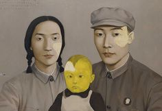 "Chinese contemporary artist Zhang Xiaogang's ""Bloodline: The Big Family No. 2"""