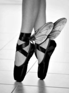wings for fairy costume - could put on ballet shoes for younger girls