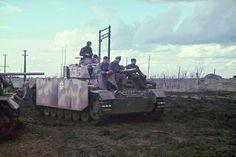 Medium Tank Pz.Kpfw.III Ausf.J in the district of Belgorod.