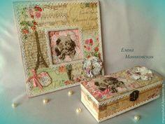 """Купить """"Souvenirs..."""" ,шкатулка и панно-ключница. - розовый, цветочный, розы, цветы из ткани"""