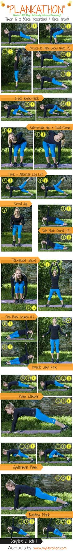 Plankathon HIIT: Workout Infographic. This looks like a great workout. Especially since you cannot do crunches pregnant.