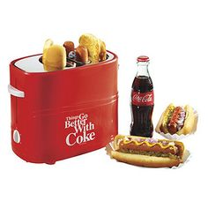 Nostalgia Electrics Coke Hot Dog Toaster