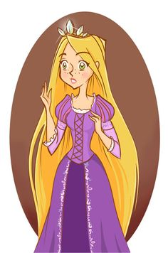 Two drawings I made with my cartoony Rapunzel for... | MadEye's world