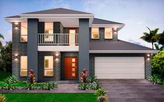Evoque Dual 36 - granny-flats Level - by Kurmond Homes - New Home Builders Sydney NSW Model House Plan, Dream House Plans, Modern Bungalow House, Modern House Design, D House, Facade House, Architect House, Architect Design, Custom Home Builders