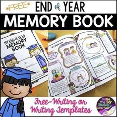 End of Year Memory Book *Free* Creative Writing, Writing, End of Year 1st, 2nd, 3rd, 4th, 5th Activities, Fun Stuff, Printables-Students will love having the options to free write about memories or fill in provided templates in their End of Year Memory Book!