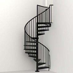 Civik 63 in. Black Spiral Staircase Kit