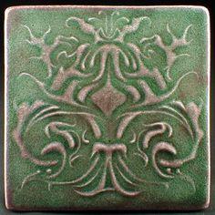 Ceramic tile 6 x 6 wall tile accent tile by CampbellTileworks