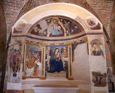Francesco Melanzio. Montefalco (PG). Piazza del Comune, Oratorio di Santa Maria di Piazza
