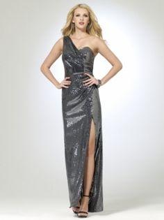 Sequin Gunmetal Gown