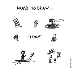 What's for dinner tonight? Pasta, pizza..? Word of day 164: Italy. . . #365waystodrawfestival #dailydrawing #italy #italie #illustratie #illustration #tekening #waystodraw #icons #sketchnote #visualnote #graphicrecording #getekendverslag #getekendenotulen #zakelijktekenen #visuelenotulen #visueelnotuleren #tekening #studiolimon #haarlem #amsterdam #denbosch