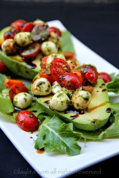 Caprese stuffed avocado Recipe http://best-of-recipe.blogspot.com/