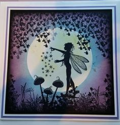 Fairy card made with Lavinia Stamps and distress inks