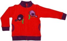 Jacket Red Birds - Vest Rood Vogeltjes