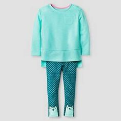 Toddler Girls' 2-Piece Set - Crystalized Green - Cat & Jack™ : Target